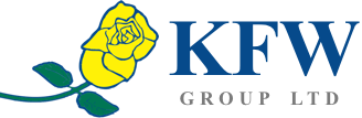 KFW Group Ltd logo with yellow flower